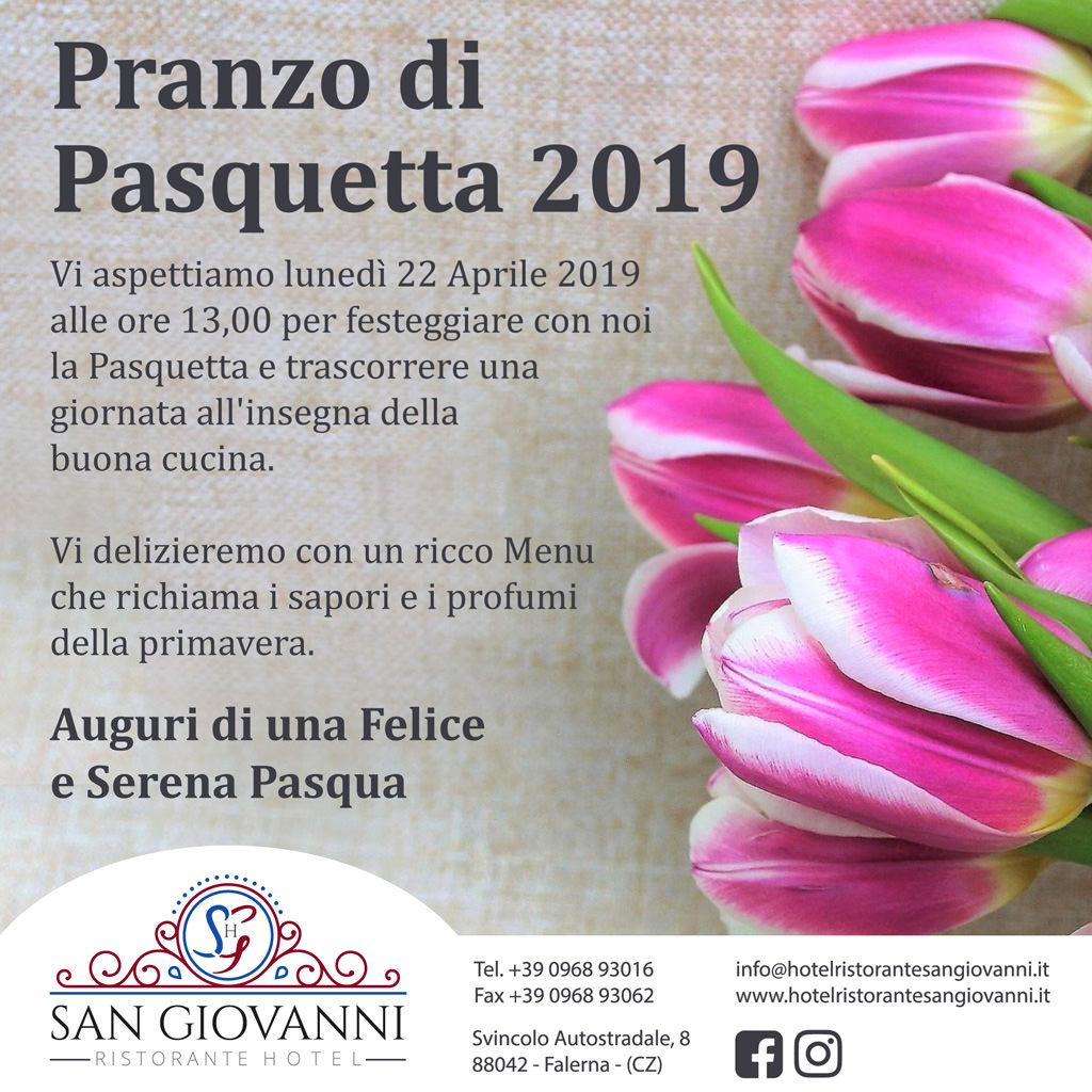 Pranzo di Pasquetta 2019